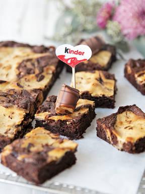 Brownies mit Frischkäse-Wirbel von kinder®