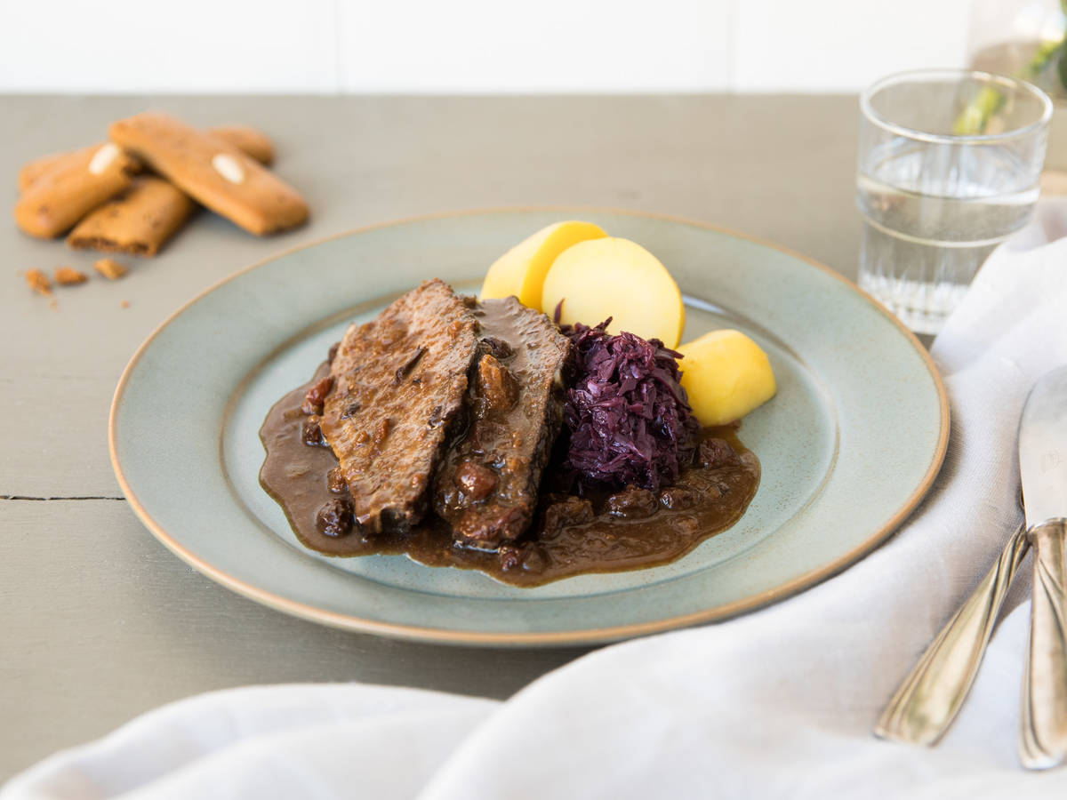 Sauerbraten (Slow-cooked German pot roast)