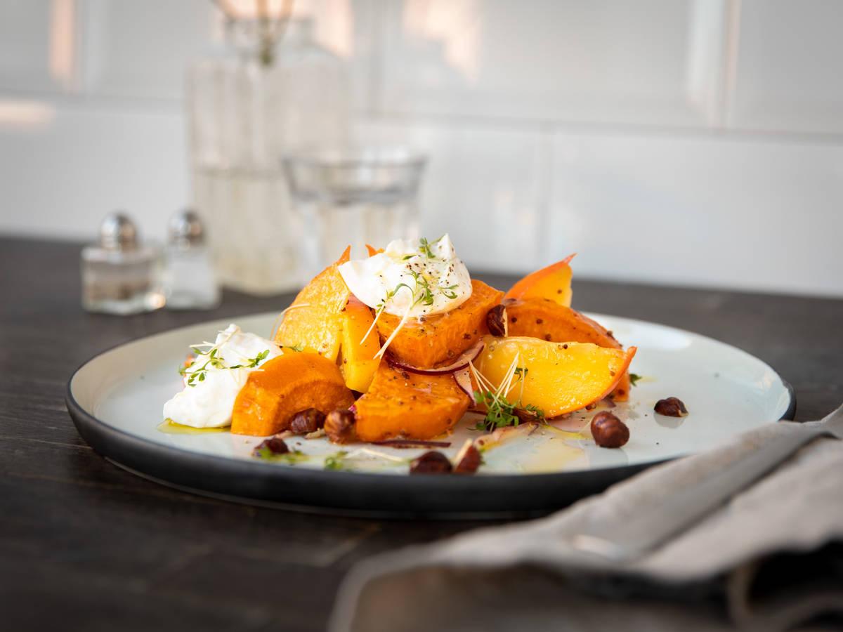 烤红薯柿子沙拉