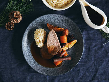 Spiced orange and red wine braised lamb