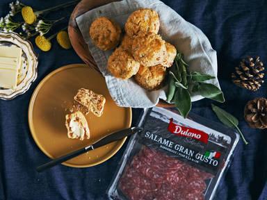 Salami and sage scones