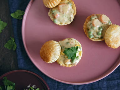 Mini vegetable pot pies