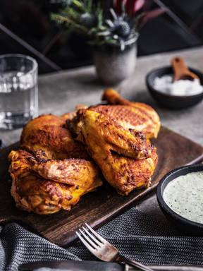 Peruanisches Brathähnchen mit grüner Soße