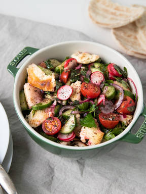 Fattoush (Middle Eastern bread salad)