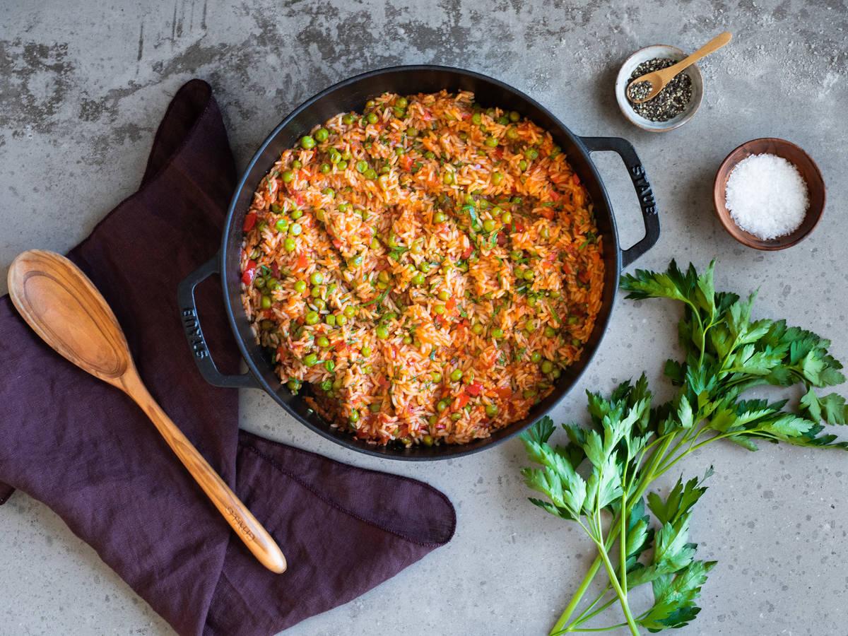 砂锅蔬菜炖饭