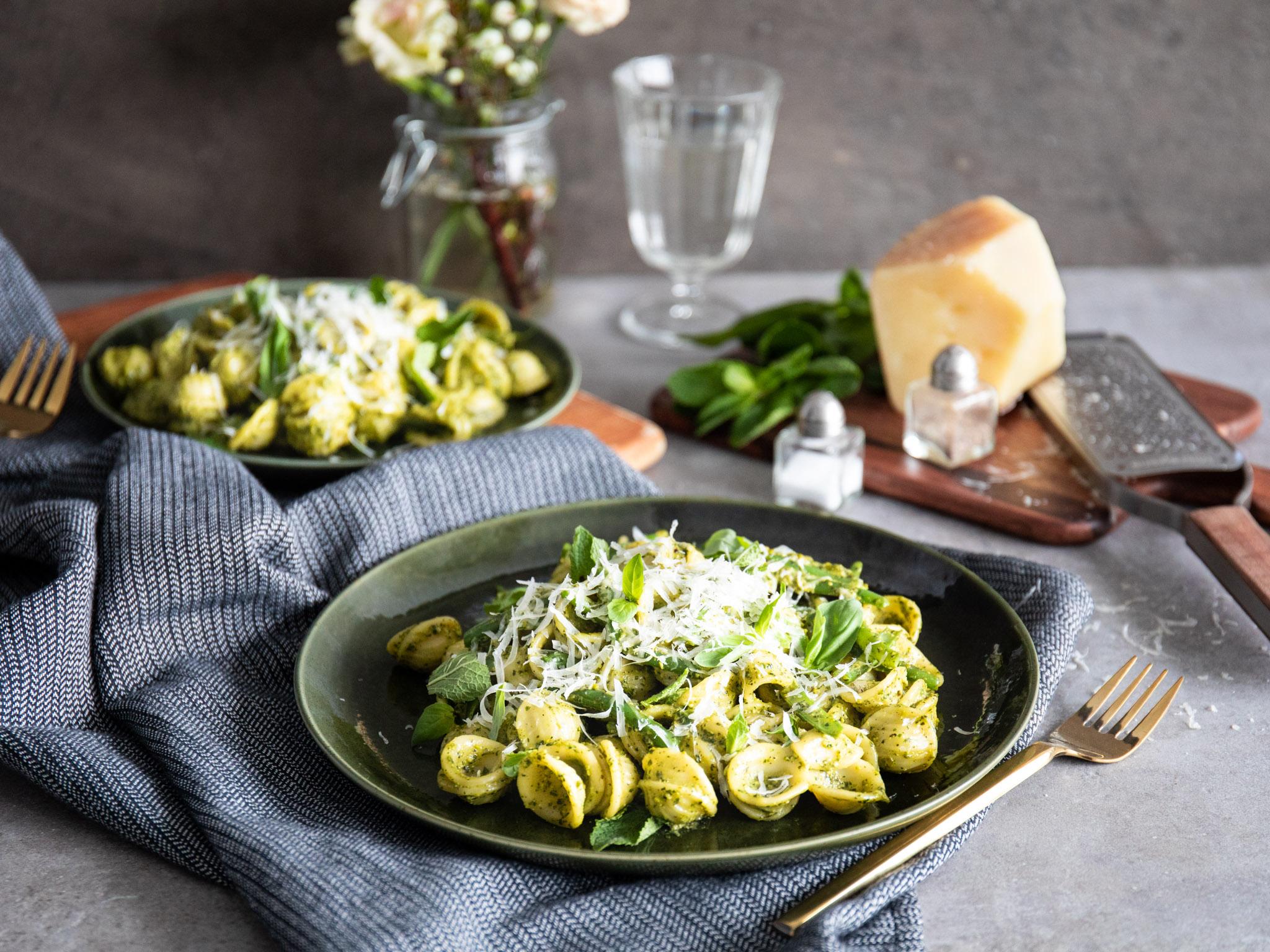 Orecchiette with pistachio pesto | Watch our recipe video