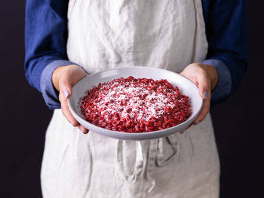 5-ingredient beet risotto