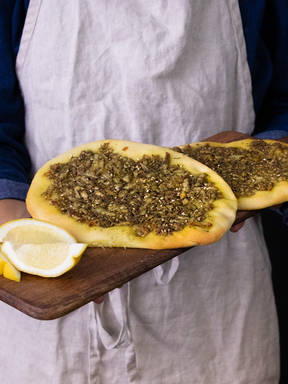 5-ingredient manakish (Lebanese flatbreads)