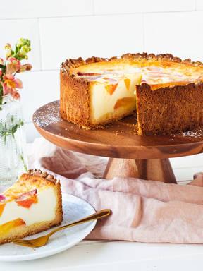 Nectarine crème fraîche cake