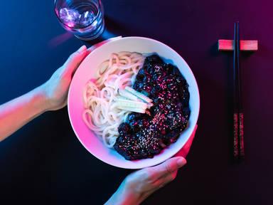 Jjajangmyeon (Koreanische schwarze Bohnen Nudeln)