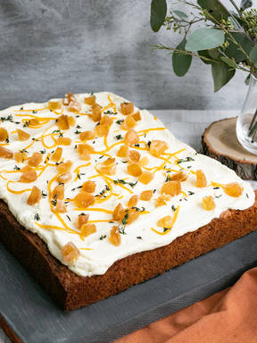 Spiced parsnip cake with cream cheese frosting
