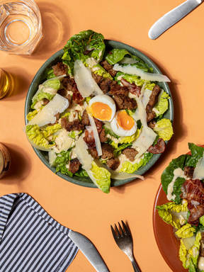 Brunch Caesar salad