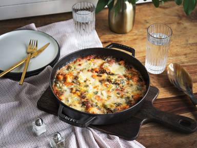 Ofen-Gnocchi mit Gorgonzola und Spinat