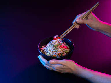 Easy japchae (Korean glass noodles with stir-fried vegetables)
