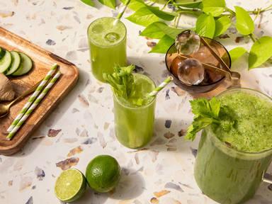 Spritziger Grüner Saft