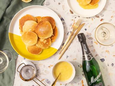 Fluffige Ricotta-Pancakes mit Zitronensoße