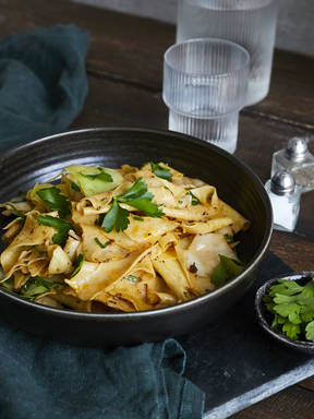 Austrian cabbage pasta with caraway butter