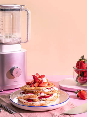 Easy waffle stack with berries