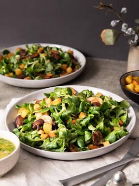 Feldsalat mit Kartoffeldressing