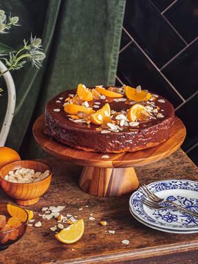 南瓜香橙巧克力豆蛋糕