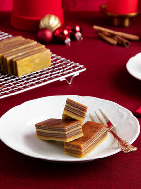 Goan bebinca (layered coconut cake)
