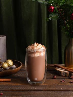 Festive spiced hot chocolate