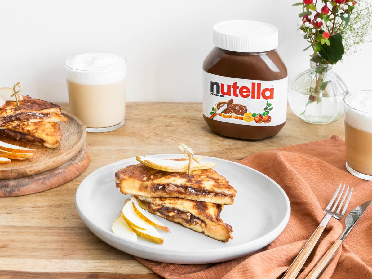 French Toast mit gebratenen Birnen und nutella®