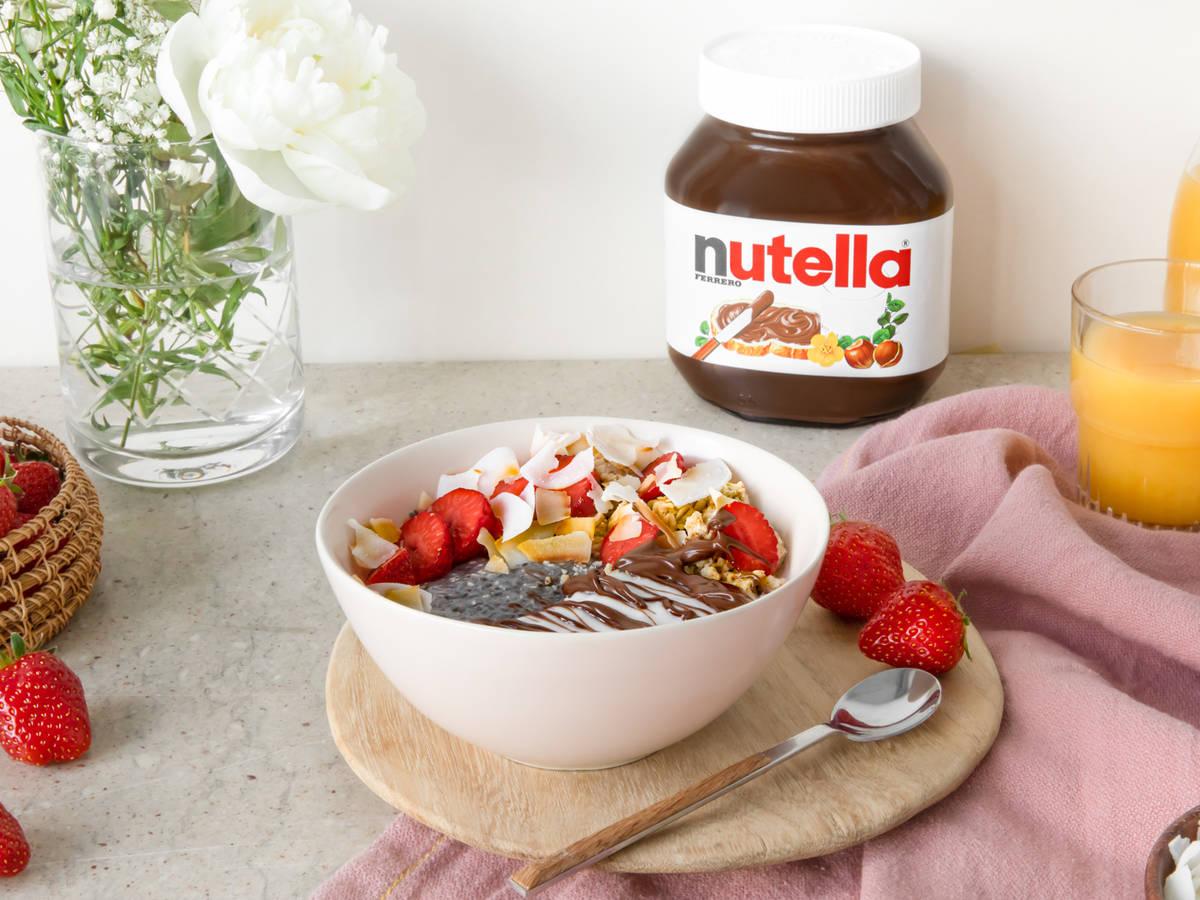 Kokos-Chia Bowl mit nutella®