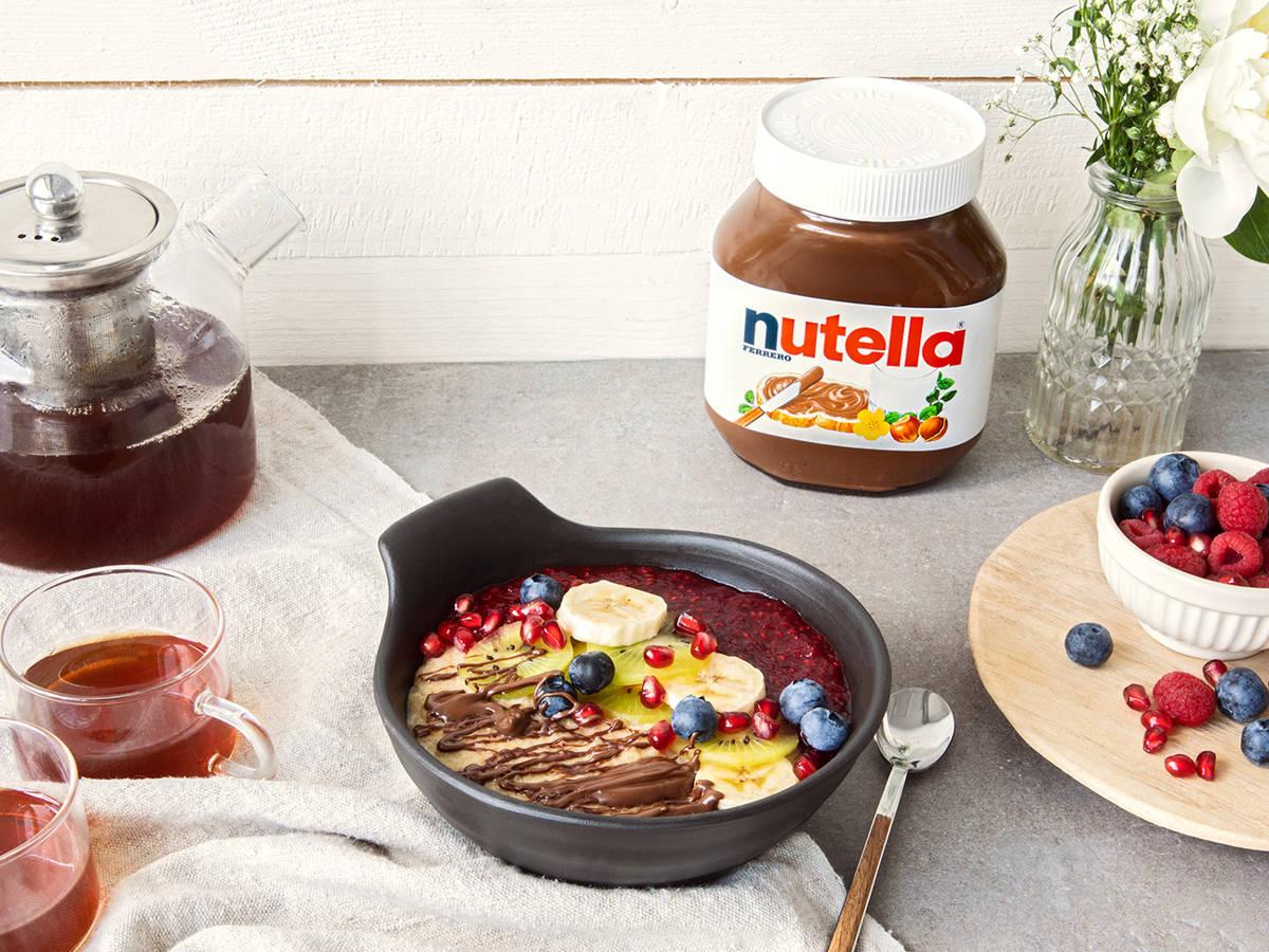 Hafer-Hirse-Porridge mit nutella®