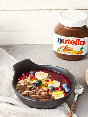 Hafer-Hirse-Porridge mit nutella®