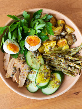 Make a Niçoise-ish salad with Devan