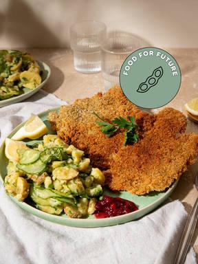 Make crispy seitan schnitzel with Hanna
