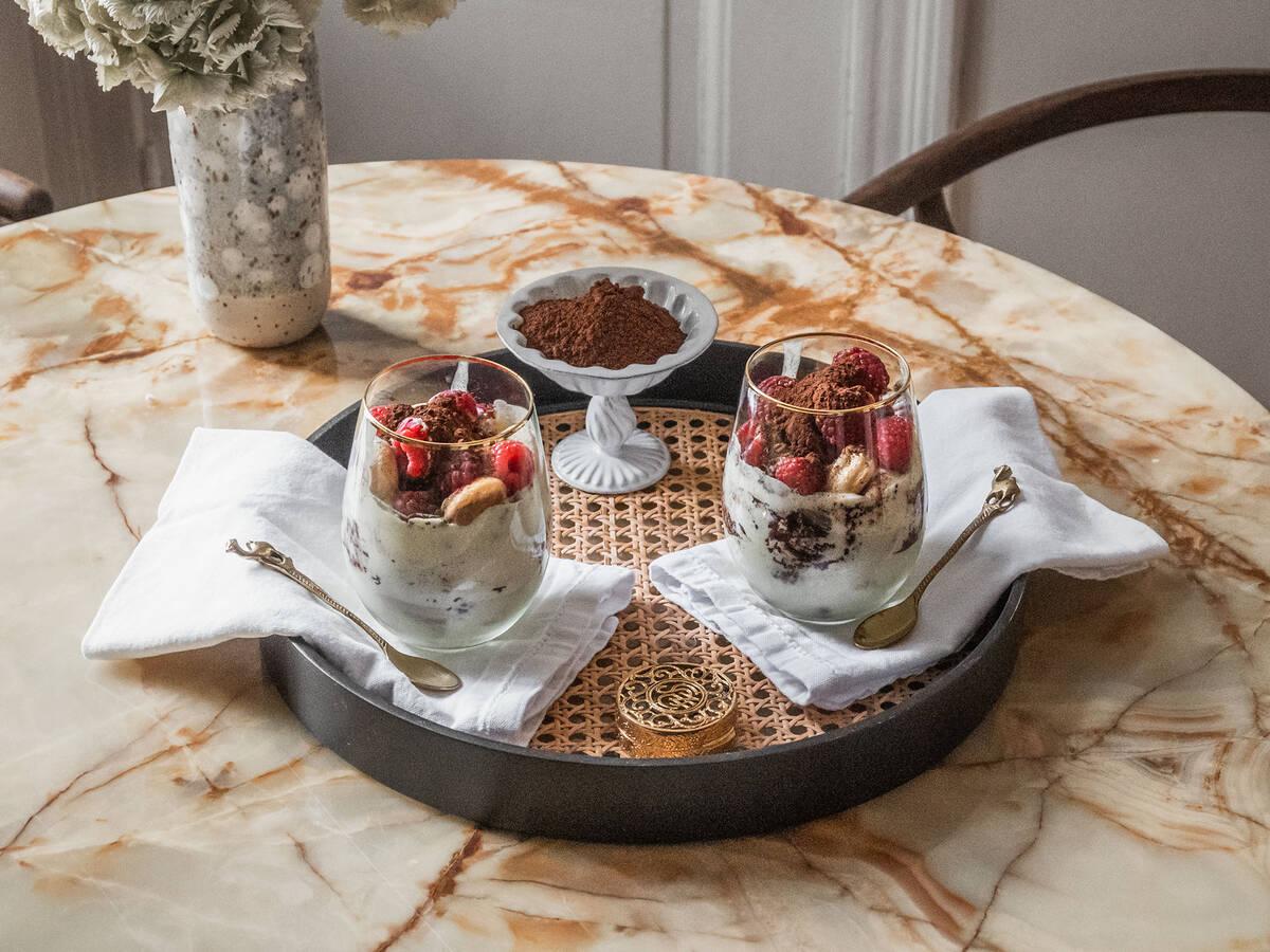 Tiramisu mit Vanille und Himbeeren mit dem Cookit