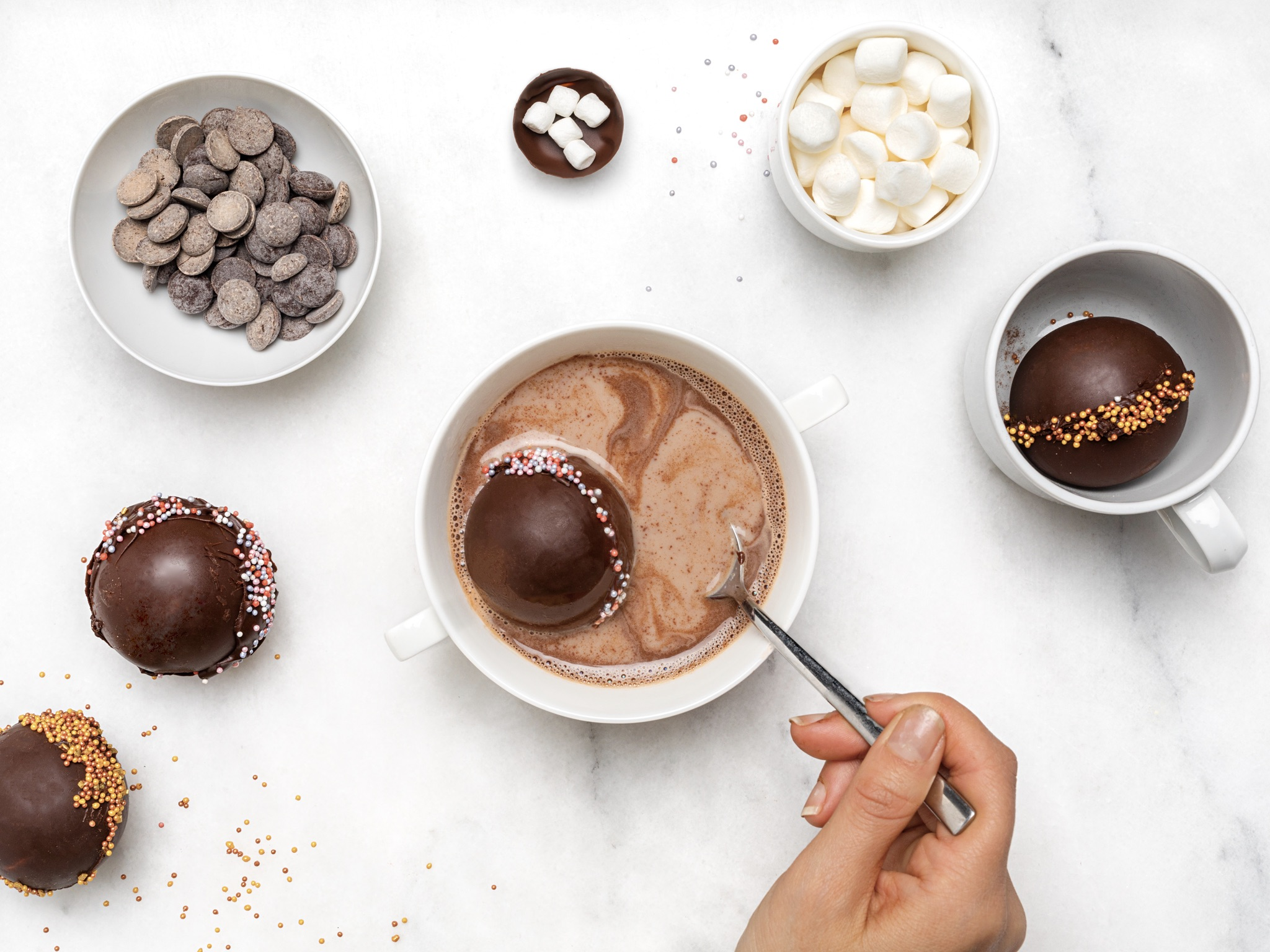 TikTok's viral hot chocolate bombs
