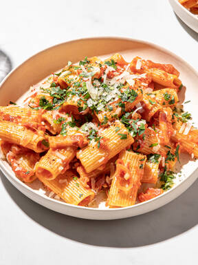 Buttery pasta all'amatriciana