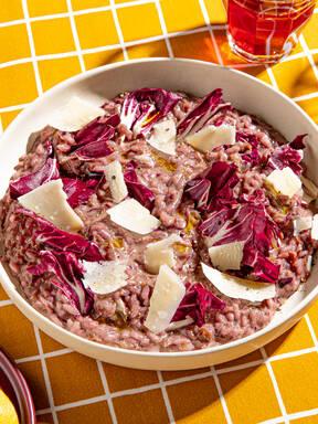 5-ingredient radicchio risotto