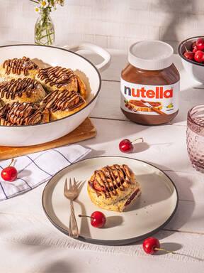 Mohn-Kirsch-Schnecke mit nutella®