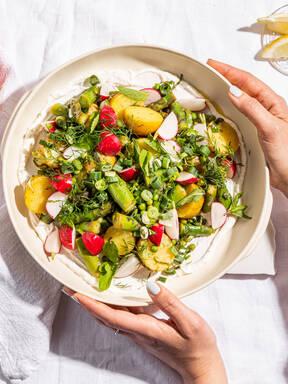 Spring potato and asparagus salad