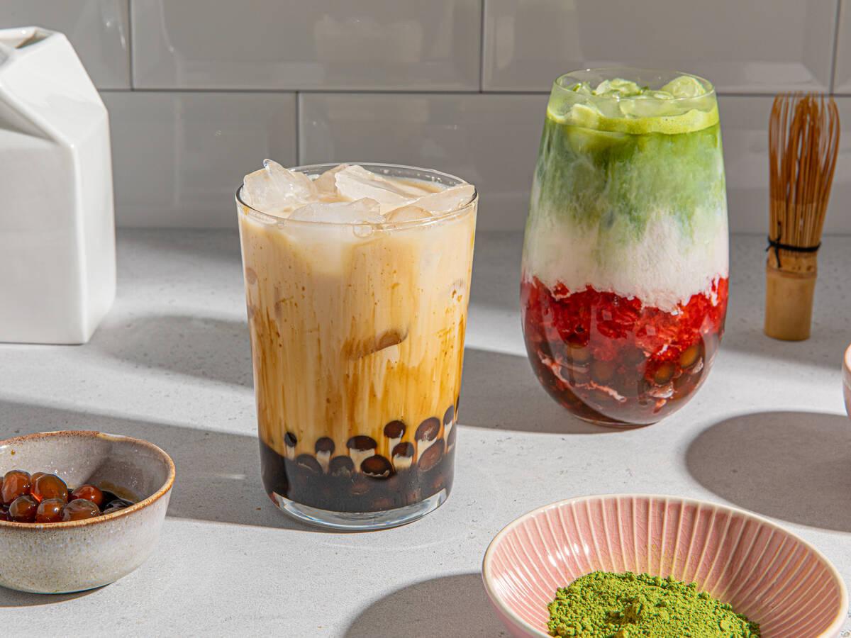 Hausgemachter Bubble Tea, 2 Variationen