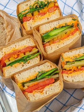Big summer veggie sandwich