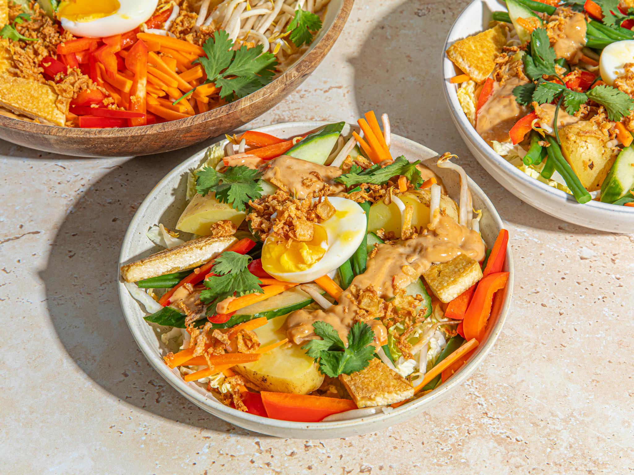Gado Gado Indonesian Salad With Peanut Sauce Kitchen Stories Recipe