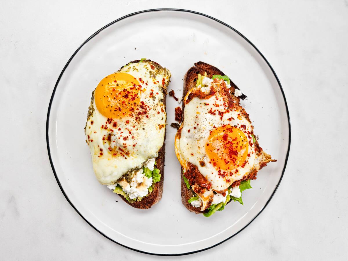 TikTok's viral pesto eggs, 2 ways