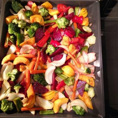 简易烤蔬菜