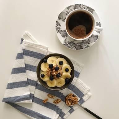 Bananenbrot-Porridge Bowl