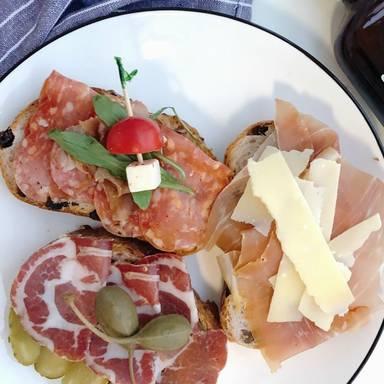 Bruschetta and antipasti crostini