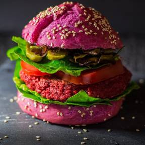 Chickpea beetroot burger