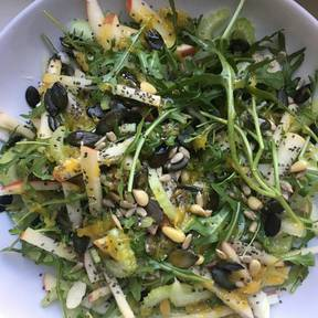 Fennel, arugula, and apple salad