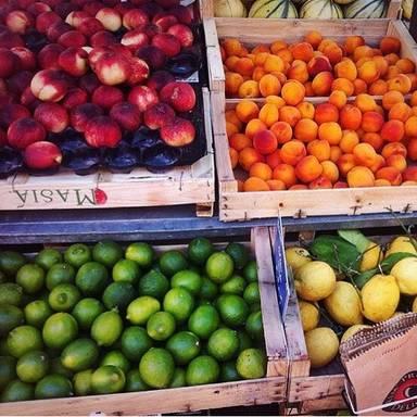 Food market in France