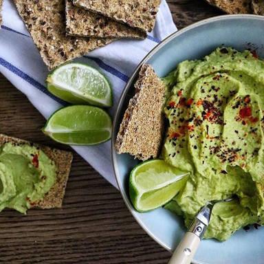 Avocado and lime hummus