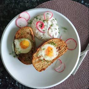 Hole in the bread eggs